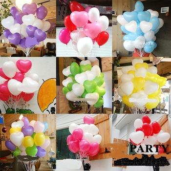 wholesale wedding party accessories 12 inch heart balloon wedding party decoration 5 colors each 20pcs ,100pcs/lot
