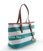 wholesale free shipping, Fashion bags, brand handbags, women's handbags.Horizontal stripes, handbags