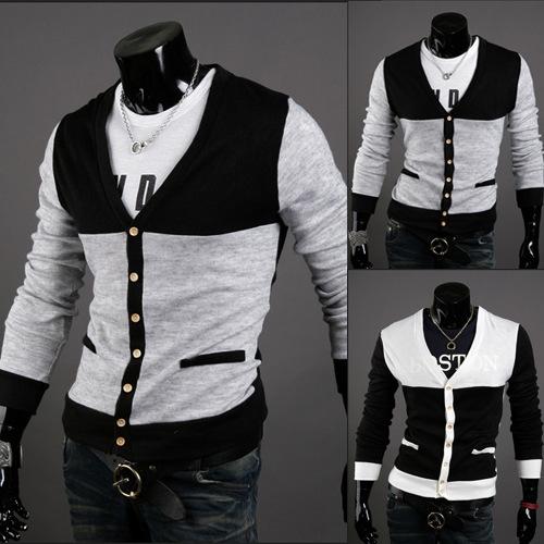 Men s clothing wholesale sweater big code cardigans full v neck high