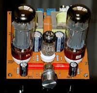 HIFI  6N2+EL34 TUBE power amplifier 2.0 class A BOARD FOR diy kit