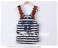 Free shipping 2013 wild casual striped cotton strap fashionable  princess dress