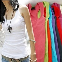 35 g0002 women's two ways all-match spaghetti strap basic tank design long necklace