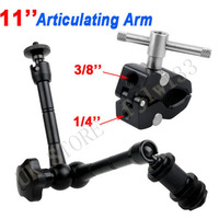 "100% GUARANTEE 11"" Metal Magic Arm + Super Clamp for Monitor Flash Camera LED Video Light free tracking + shipping"
