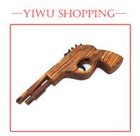 Free Shipping! 12 pcs/lot Classical Rubber Band Launcher Wooden Pistol Gun (Toy)  ,Nostalgic Toys,Puzzle Wooden Pistol,Gift Gun