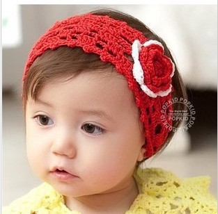 [9059] baby KIDS wool handmade ribbon flower head flower headdress hair accessories hair bands Portal 23g