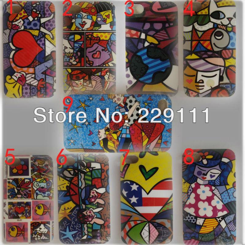 2013 Novelty Art Graffiti Painting Hard Clear Side Back Case For iPhone 4 4S()