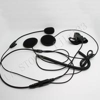 100% GUARANTEE10 PCS  Noise Reduce Close Helmet Motorcycle Earphone Headphone Mic for All A pple i Phone HTC SAMSUNG  1NUB
