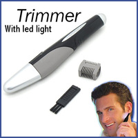 Personal Electric Nose Ear Hair Micro Trimmer Men's Precision Groomer Shaver With LED Light Free Shipping