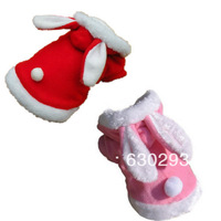 High Quality Rabbit Plush Dog clothing Pet Hoodie Costume Clothes Suit Coat with all sizes