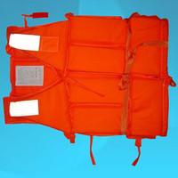 Free Shipping Popular Orange Prevention Flood Foam Swimming Life Jacket Vest+Whistle for Adult