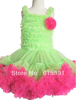 2013 free shipping baby girls one-piece dress popular  layered s princess dress pettiskirt,girls tutu layered chiffon