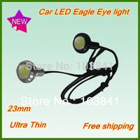 Free shipping high power  IP65 car led light eagle eye lamp with Screw led car reversing light led daytime running light