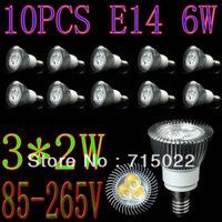 E14 6W LED Spot Light Bulbs Lamp Warm white/White 3X2W High Brightness Free Shipping