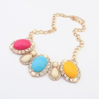 (Min order$10)Free Shipping!European And American Fashion Retro Jewel Necklace!#98290