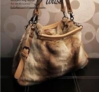 2013 winter fashion rabbit fur handbag Messenger Bag Shoulder Bag