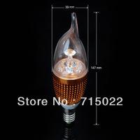 E14 4W White/Warm white High Power Bridgelux LED Bulb Lamp Candle Light Energy Saving AC85-265V Free Shipping