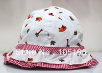 Baby White Bucket Caps Girl's Summer Cap Children's Sunshine Cotton Animal Caps For Kids Hats Baby Cap Fashion Headgear