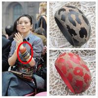Vintage national trend fashion leopard print natural wood wide bracelet sculpture wool bracelet fashion