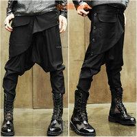 cool Men's skinny pants low-rise ruslana korshunova harem pants crotch pants big baggy jeans Saggy trousers male casual clothes