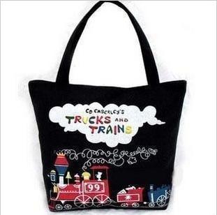 2014 wholesale canvas bag super models small train, Japanese canvas bag,women handbag free shipping,HB175(China (Mainland))