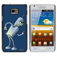 Bender Bending  Aluminum Metal&Hard Plastic Back Case Cover For Samsung I9100 Galaxy S2 I9100/I9105 Plus (S2-62)
