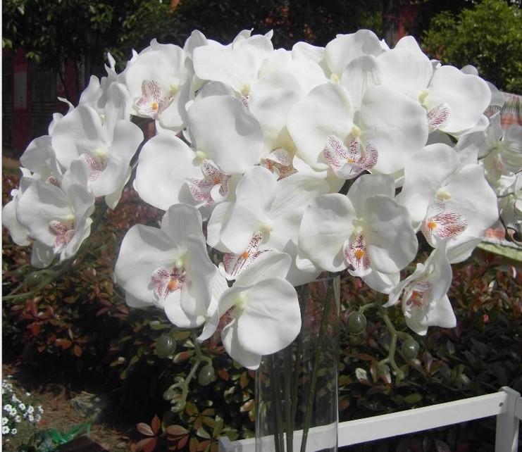 Wedding Flowers Phalaenopsis Artificial Silk Flowers Free