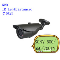 "waterproof IR Camera Color 1/3""  SONY 500/650/700TVL IR: 20M"
