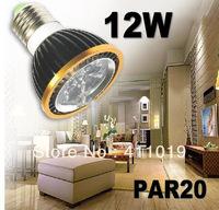 X10 Free shipping High power CREE Led par 20 Lamp 12W 4x3W E27 900lm Led Light 85-265V Spotlight 30 38 bulb lighting downlight