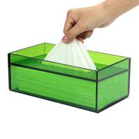 Acrylic tissue box home fashion quality transparent rectangular tissue box