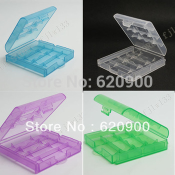 100% GUARANTEE (Free Shipping CPAM) 5  PCS/LOT Hard Plastic Case Holder Storage Box for AA AAA Rechargeable Batteries H-099A