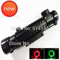 NEW TelescopicSsight 4X28EG Red Green Dot Reflex Sight gun sight  riflescopes night vision scopes for hunting FreeShipping