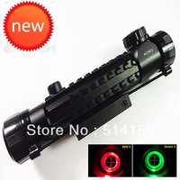 NEW  Telescopic sight 4X28EG Red Green Dot Reflex Sight gun sight  riflescopes night vision scopes for hunting FreeShipping