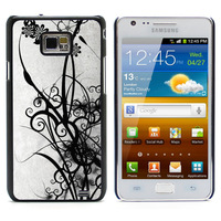 Monochrome Art Aluminum Metal&Hard Plastic Back Case Cover For Samsung I9100 Galaxy S2 I9100/I9105 Plus (S2-99)