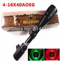 Telescopic sight 4-16x40AOEG Red Green Dot Reflex Sight r gun sight  riflescopes night vision scopes for hunting FreeShipping