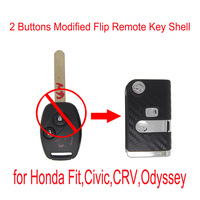 2013 wholesale 2 Buttons Modified Flip Remote Key Shell for Hond, Fit,Civic,CRV,Odyssey free shipping car key cover keyfob