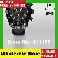 2014 Free Shipping quartz top luxur brand men watch water resistant black rubber mens sports wrist watches AR5948 gift  box