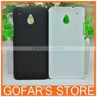 Simple Plain Frosted Matte Plastic Back Hard Case for HTC One Mini M4 Mix Color
