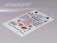 Stm-racing NISSAN GT-R R35 GT DECAL SHEET   DECAL SHEET PC201008B-1   1:10 eletronic touring car