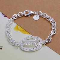 SPCH224 Free Shipping Fashion Bracelet Silver Jewelry jewellry  Charm Tag Chain Bracelets Brand New