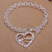 SPCH225 Free Shipping Fashion Bracelet Silver Jewelry jewellry  Charm Tag Chain Bracelets Brand New