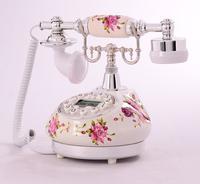 Rustic fresh telephone ceramic vintage telephone retro corded telephone korean style telephone nice home decoration