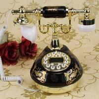 Fashion eco-friendly rustic ceramic phone fashion home telephone corded telephon ceramic vintage telephone home phone decoration