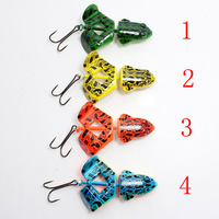 Top Water Frog Fishing Lures Baits plastic Fishing tackle  frog lure with hooks 13.5g 7cm