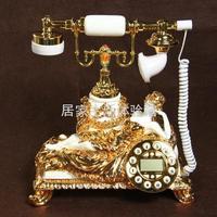 free shipping Sliding telephone beauty telephone gold antique telephone fashion phone