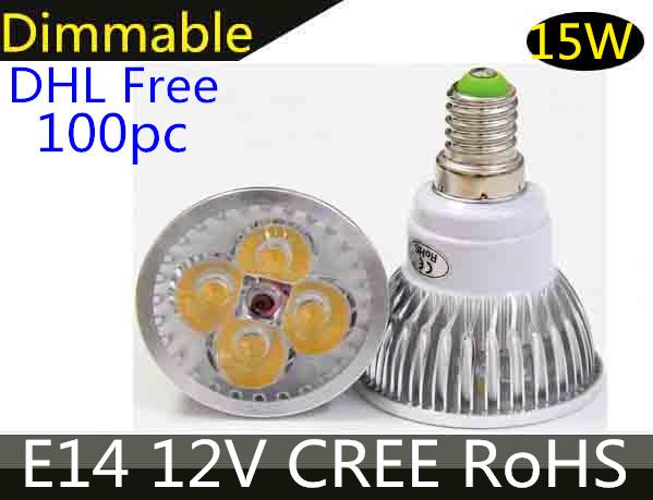 High power LED Spotlight Bulb 12V LED Lamp 3x3w/9w e14 Dimmable lights
