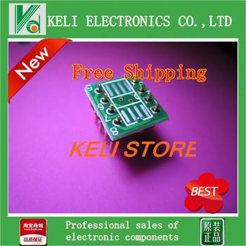 Free  Shipping 20PCS/LOT MSOP / SOIC / TSSOP SOP8 turn DIP8 IC adapter Socket / Adapter plate / PCB PB-FREE 100%New Original