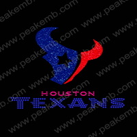 Hot Sale Cheap 30Pcs/Lot Free DHL Shipping Glitter Texans Motif Rhinestone Iron On Transfer Hot Fix Motif Custom Design