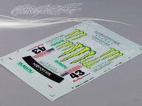 Stm-racing SUBARU IMRREZA WRX 9 DECAL SHEET  PC201010B-3  1:10 eletronic touring car