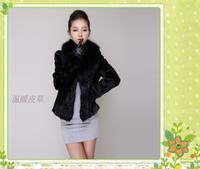 Fur fox coat faux fur short design slim fur outerwear