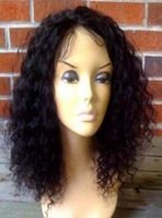 Free shipping Wholesale and Retail Stock 8inch-26inch  Remy 100% Indian Human Wigs Front Lace Wig Glueless Wig